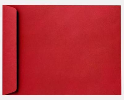 Red Envelope Catalog (100 x Red 9x12 Catalog Envelopes, Linen, 100-pack)