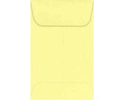 #3 COIN ENVELOPES 4.25 x 2.5 Light Yellow Gummed Seal Acid-Free (4-1/4x