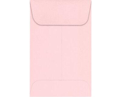 #3 COIN ENVELOPES 4.25 X 2.5 Baby Pink Gummed Seal Acid-Free (4-1/4 x 2-1/2)