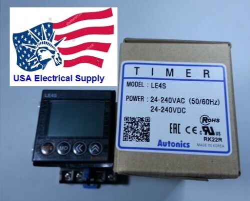 LE4S Digital Timer Autonics  Relay SSR Signal on start On/off With Socket Base