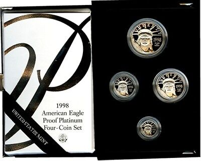 1998 W American Eagle Platinum 4 coin Proof Set  REDUCED Again!super low mintage
