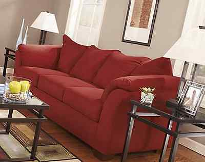 Red sofa Living Chamber Polyester Couch High resiliency comfortable house decor