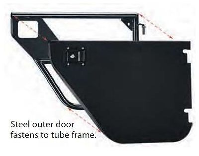 Bestop Element Tube Door Front Door Enclosure Kit for 2007-2018 Jeep Wrangler JK - Element Door Enclosure Kit