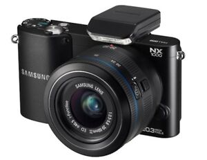 Samsung NX1000 SMART Digital Camera + 20-50mm LENS +FLASH (Black) 20.3MP *NEW*