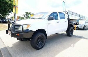 2005 Toyota Hilux GGN25R MY05 SR White 5 Speed Manual Dual Cab Woodridge Logan Area Preview