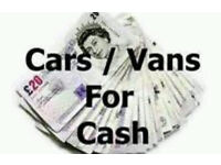 CARS AND VANS WANTED!!
