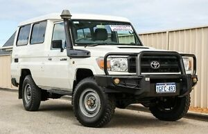 2011 Toyota Landcruiser VDJ78R MY10 Workmate Troopcarrier White 5 Speed Manual Wagon Wangara Wanneroo Area Preview