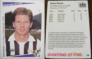 Figurina-card-Shooting-Stars-91-91-1991-1992-130-Stefan-Reuter-calciatori-juve