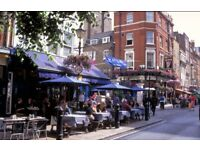 Waiter/waitress required for lively West End Restaurant