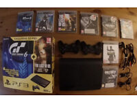 PS3 Bundle, 8 Games, 2 Control, Booklet, Box £90.