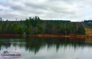 1/2 Acre in scenic Chapels Cove on pond next to holyrood