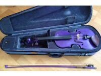 Violin - 3/4 size Stentor violin, purple, great condition