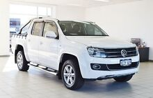 2013 Volkswagen Amarok 2H MY13 TDI400 Trendline (4x4) White 6 Speed Manual Dual Cab Utility Morley Bayswater Area Preview