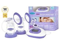 NEW- Lansinoh 2-in-1 Electric Breast Pump