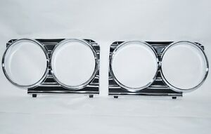 66 1966 CHEVY IMPALA HEADLIGHT GRILL TRIM BEZELS NEW