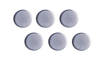 20 Magnete aus Edelstahl, Ø27 mm, Höhe:7 mm, extrastark auch für Glasmagnettafel