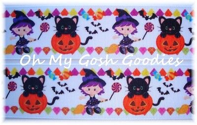 1.5 GOOD WITCH HALLOWEEN DESIGNER GROSGRAIN RIBBON FOR BOW HAIRBOW ](Good Crafts For Halloween)