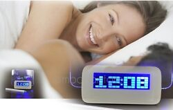 LED Luminous Fluorescent Message Board Digital Alarm Clock Night light Calendar