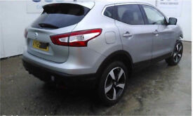 NISSAN QASHQAI 1.2 AUTO BREAKING FOR PARTS ENIGNE , AIRBAGS , SEATS , DOORS ETC MOST PARTS AVAILABLE