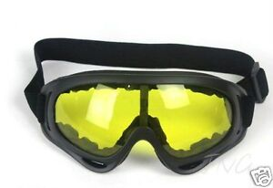 DAY-NIGHT-GLOBAL-VISION-YELLOW-LENS-PROTECTIVE-PADDED-GOGGLES-SAFETY-GLASSES