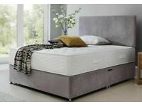 NEW SUEDE DIVANS WITH MEMORY SPRUNG MATTRESSES