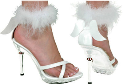 Morris Costume Women's Sexy Angel Crisscross Toe Strap Shoes White 7-8. HA50WTMD - Angel Costume Shoes
