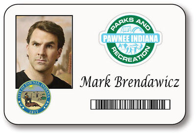 MARK BRENDAWICZ PARKS & RECREATION NAME BADGE HALLOWEEN PROP MAGNET BACK - Parks Recreation Halloween Costumes