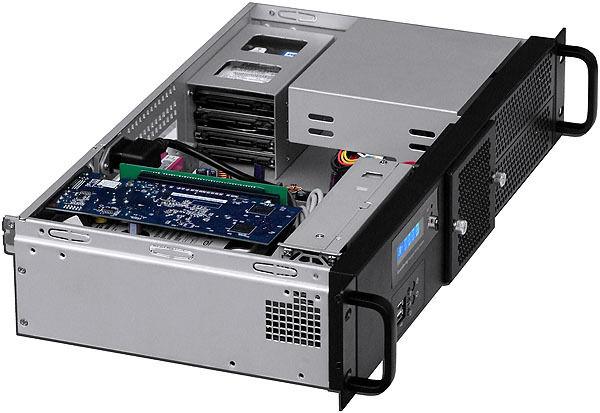 "2U(Fan LCD)(PCI-E Riser) ITX(2x5.25""+6x HDD)(Rackmount Chassis) D:9.84"" Case NEW"