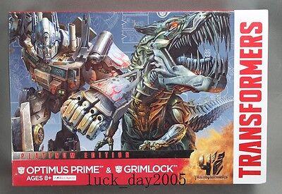 Hasbro Transformers 4 AOE Platinum Edition Optimus Prime & Grimlock Figure ()