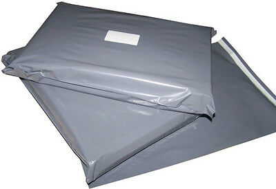 100x Grey Mailing Bags 34x41
