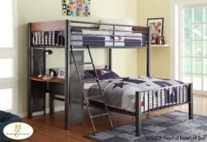 Twin Over Full Loft Metal Bed - Sale in Burlington  (BD-2499)