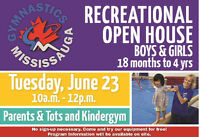 Gymnastics Open House Parents & Tots, Kindergym