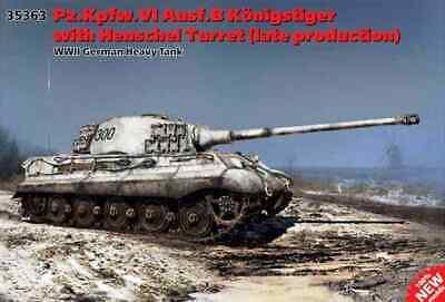ICM 35363 1:35th Pz.Kpfw.VI Ausf.B King tiger w.Henschel Turret late production