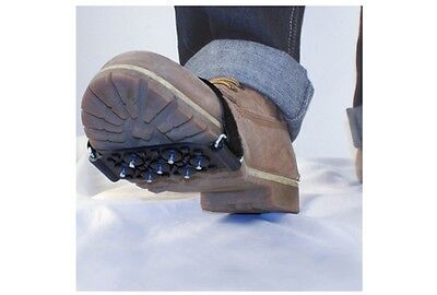 AA UNIVERSAL FIT SNOW & ICE CLEATS WALKING AID VELCRO GRIPS FIT BOOTS OR SHOES