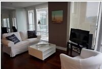 Downtown Vancouver - Furnished 2 Bed Condo - 1000 Sqft