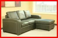 Bonded leather REVERSIBLE SOFA/CHAISE SALE, $499.99 @ Yvonne's