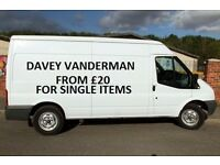 Man and van .. from £20 for single items in the Liverpool area. Carpeted van..Davey Vanderman