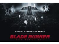 2 x secret cinema blade runner tickets 9th May