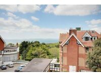 STUNNING SEA VIEWS! MODERN UNFUNRISHED 2 BEDROOM TOP FLOOR FLAT WITH PARKING IN BOSCOMBE SPA