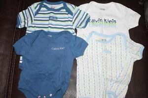 Calvin Klein 4 diaper shirts, 3-6 months
