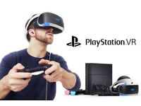 PS4 VR set with aim, motion controllers and 7 games rental