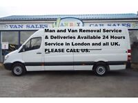 Man & Van Removal Service Special Offer £20 Per Hour Loading Unloading in London and all UK