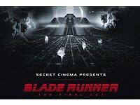 2 HALF PRICE Secret Cinema Bladerunner tickets - Pheonix level - Sun 22 April