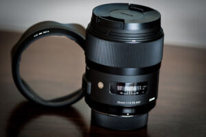 Sigma EX 35 1.4 ART prime with Sony La-ea3 adapter for sony a7