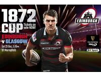 1 x ticket to Edinburgh v Glasgow rugby 23.12.2017