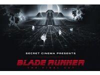 2 x Secret cinema Blade Runner tickets