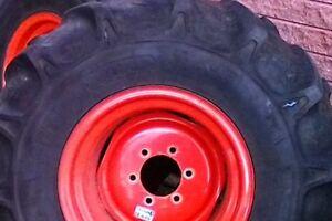 2 Pneus tracteur 12.4-16 Kubota B2150