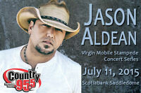 JASON ALDEAN TICKETS - 6 SEATS IN A ROW - WILLING TO SPLIT UP
