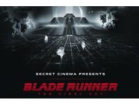 Secret Cinema Blade Runner 30th May - 1 Orion ticket