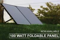 100W Solar panel Suitcase Foldable with 12V Charger built in